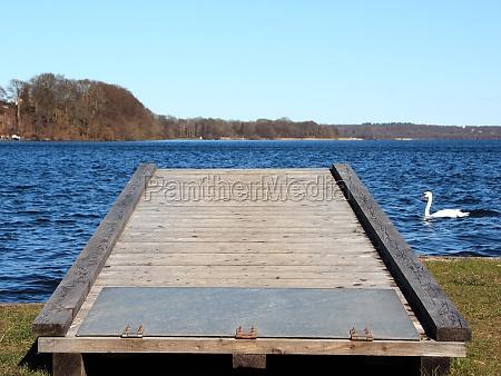 mobile landing pier at blue lake