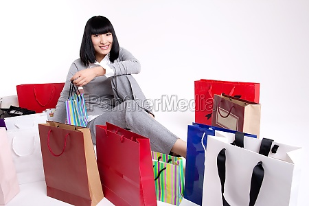 a woman of leisure shopping