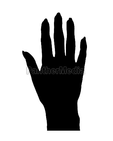 hands with large nails graphic silhouette