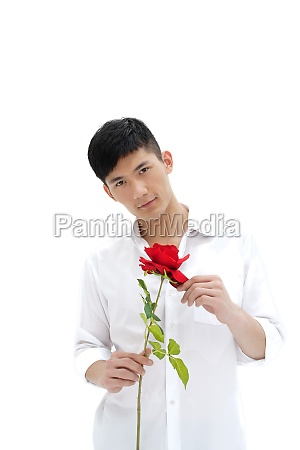 man with roses courtship