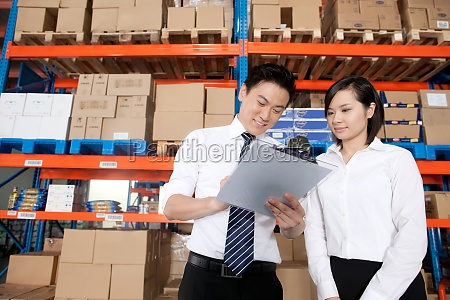 explain storage stacking young woman arrange