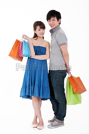 young people go shopping