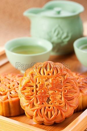 traditional moon cake mid autumn festival