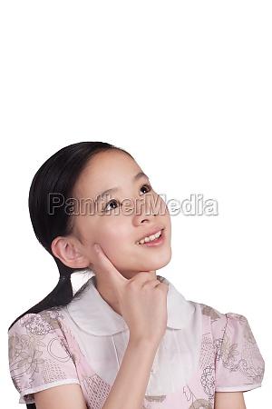 a girl happy face