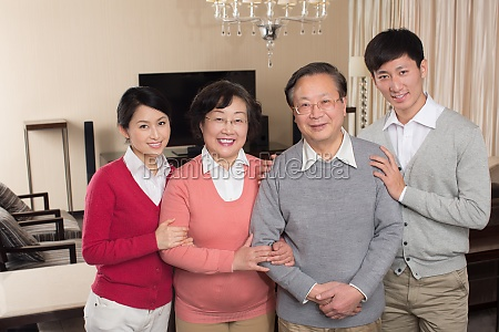family celebrate new year