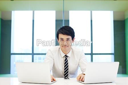 white collar mans face