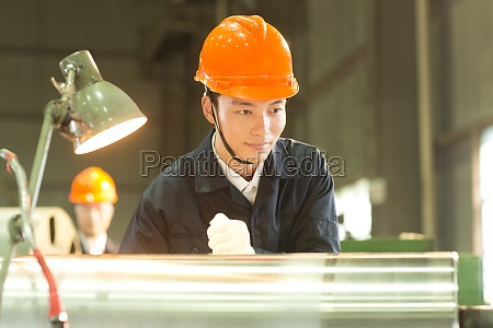 manufacturing workers in the workshop