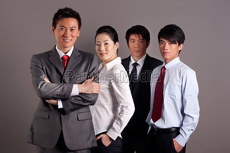 manager women relax professional attire happy