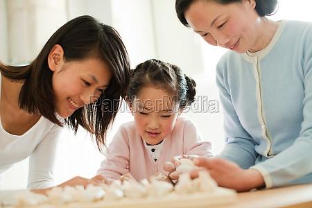 asians granddaughter smile warm seniors traditional