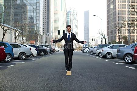 asphalt road business people asians architecture