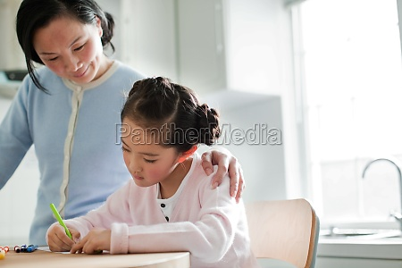 interest oriental seniors women focus granddaughter