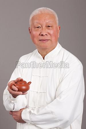 asia longevity seniors traditional costumes oriental