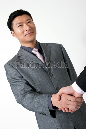 business hand asian professional attire colleagues