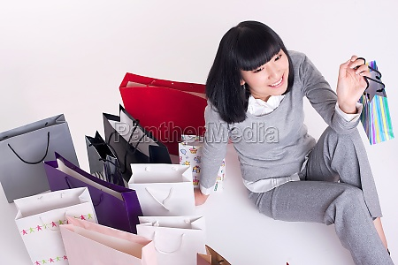 gifts sitting smile many intoxicated shopping
