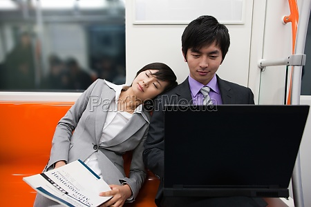 rest two people happiness transverse composition