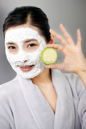 asians rest cucumber face healthy oriental