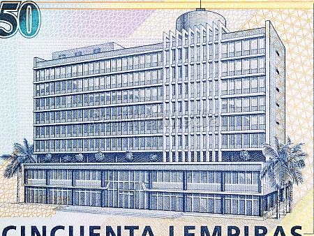 central bank building from honduran money