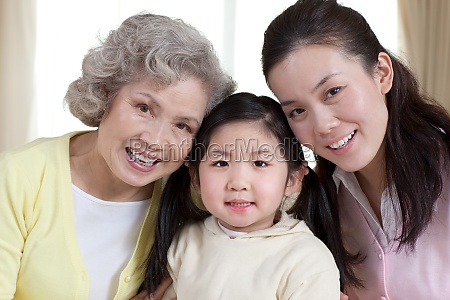 family affection happiness seniors girl mother