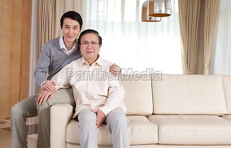 oriental figures adult son older men