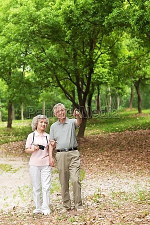 husband accompanying walking asians short sleeves