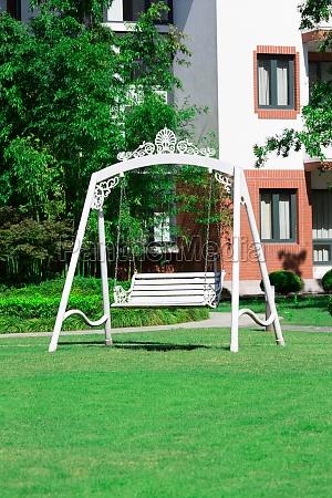 leisure swing summer tree villa daytime
