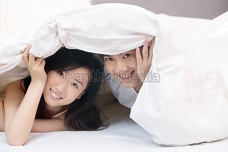 partner husband lifestyle pajamas portrait chinese