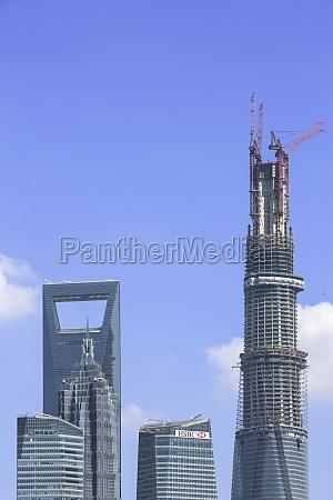 prosperity cityscape construction complex vertical frame