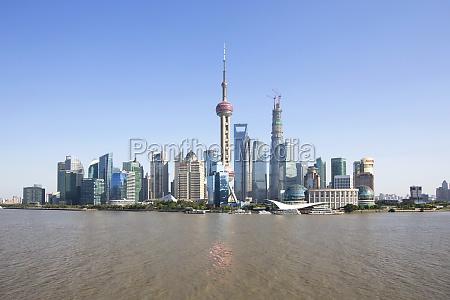 modern oriental pearl tower jin mao