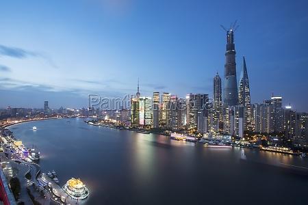 sky scenery tourism illuminate complex modern