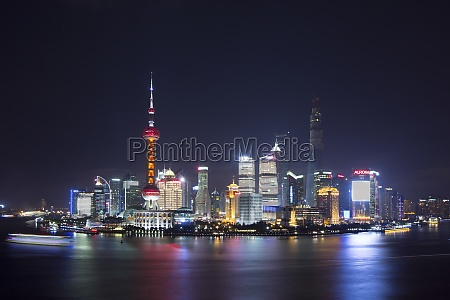 jin mao building lighting asia cityscape