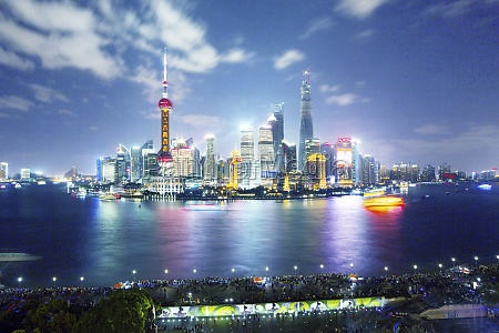 huangpu river jin mao building city