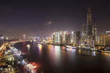 oriental pearl tower city life asia