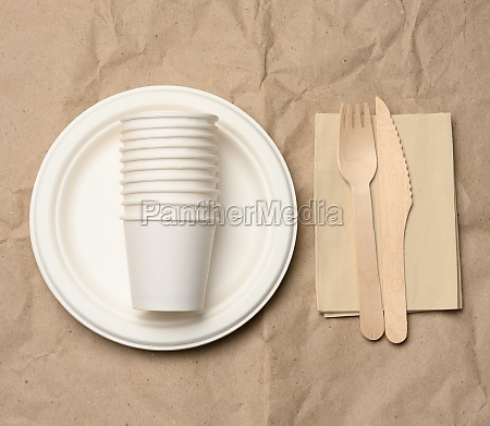 disposable round white paper plates and