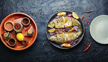 baked trout with lemon