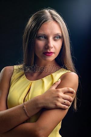 portrait of a beautiful girl in