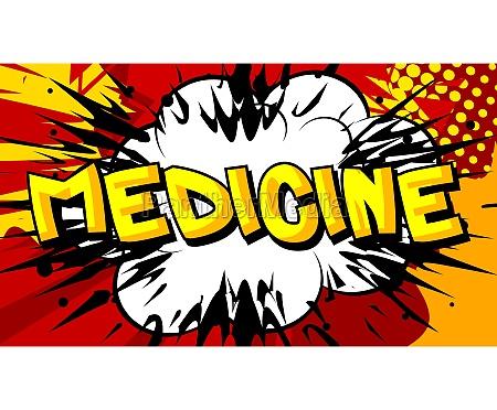 medicine comic book style