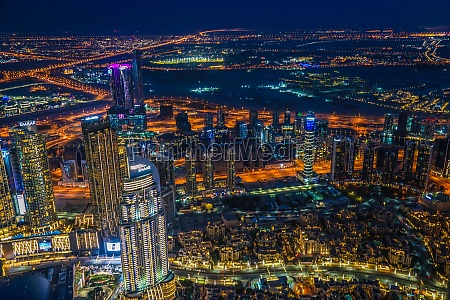 dubai night view seen from the