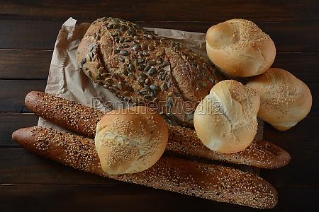 bakery fresh fragrant baked bread homemade