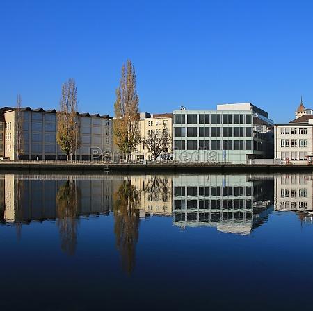 autumn scene in schaffhausen at the