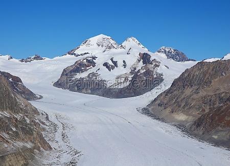 eiger and aletsch glacier