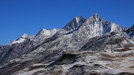 high mountains in zermatt view from