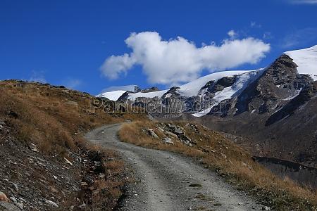 country road in zermatt