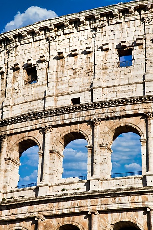rome italy arches archictecture of colosseum