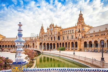 spain square in seville spain a