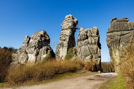 the externsteine rock formation in the