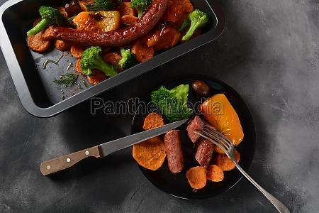 homemade baked orange sweet potato slices