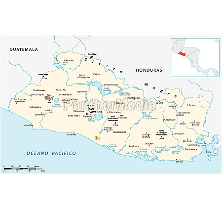 vector map of the central american