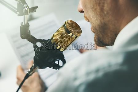 business podcast online seminar businessman speaking