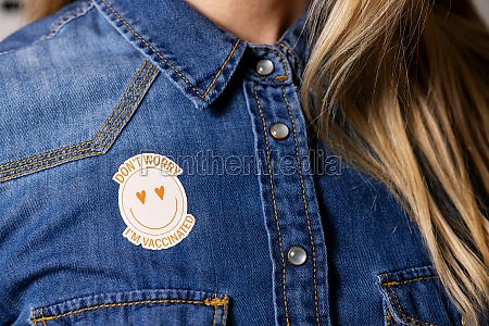 vaccinated person with immunity identification label