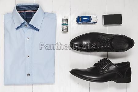 fashion set of businessman accessories top